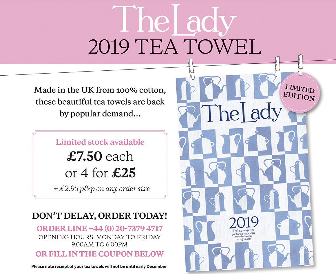 purchase your tea towel 2019 today lady co uk