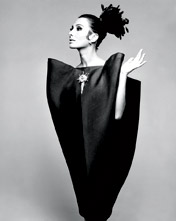 Alberta Tiburzi in envelope dress by Cristóbal Balenciaga Harpers Bazaar June 1967  Hiro 1967